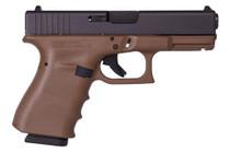 "Glock G19 RTF FDE 9mm, 4"" Barrel, Fixed Sights, 2x15rd Mags"