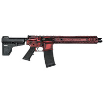 "Black Rain Ordnance SPEC15 Pistol, 556, 10.5"" Barrel, Dead Red Finish, Shockwave Blade, BRO MFR Master Key, 30rd Mag"