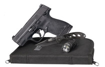 """Smith & Wesson M&P9 Shield 2.0 EDC 9mm 3"""" Barrel W/Knife, Light and Zipper Pouch, 2- 8rd Mags"""