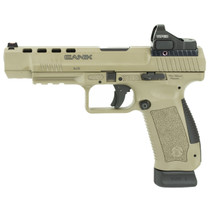 "CANIK TP9SFx 9MM, 5.2"" Barrel, Flat Dark Earth, 2- 20rd Mags, Vortex  Red Dot"