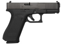 "Glock G45 Compact 9MM, 4"" Barrel, Fixed Sights, 3- 17rd Mags, Front Serrations, Ambidextrous Slide Stop Lever, Flared Mag Well"