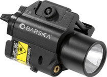 Barska Green Laser w/Light 200 Lumens 5mW On/Off Cable CR123A (2) Black