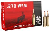 Geco .270 WSM 130gr, Expandable, 20rd/Box, 10 Box/Case