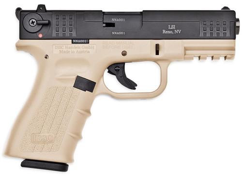 """ISSC M22 Target 22LR 5.5"""" 10+1 Desert Tan Poly Frame/Black Slide"""