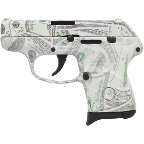 "Ruger LCP 380acp 2.75"" Barrel $100 Bill Glowing Camo 6rd"