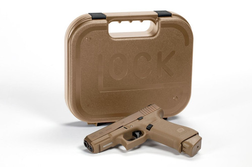 """Glock G19X Crossover 9mm, 4"""", Full Size 17 Frame Coyote, Nite Sites, 2- 19rd, 1- 17rd Mags"""