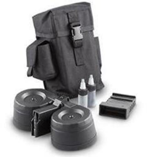 PWA AR-15 100 Round Drum Magazine Kit, Black