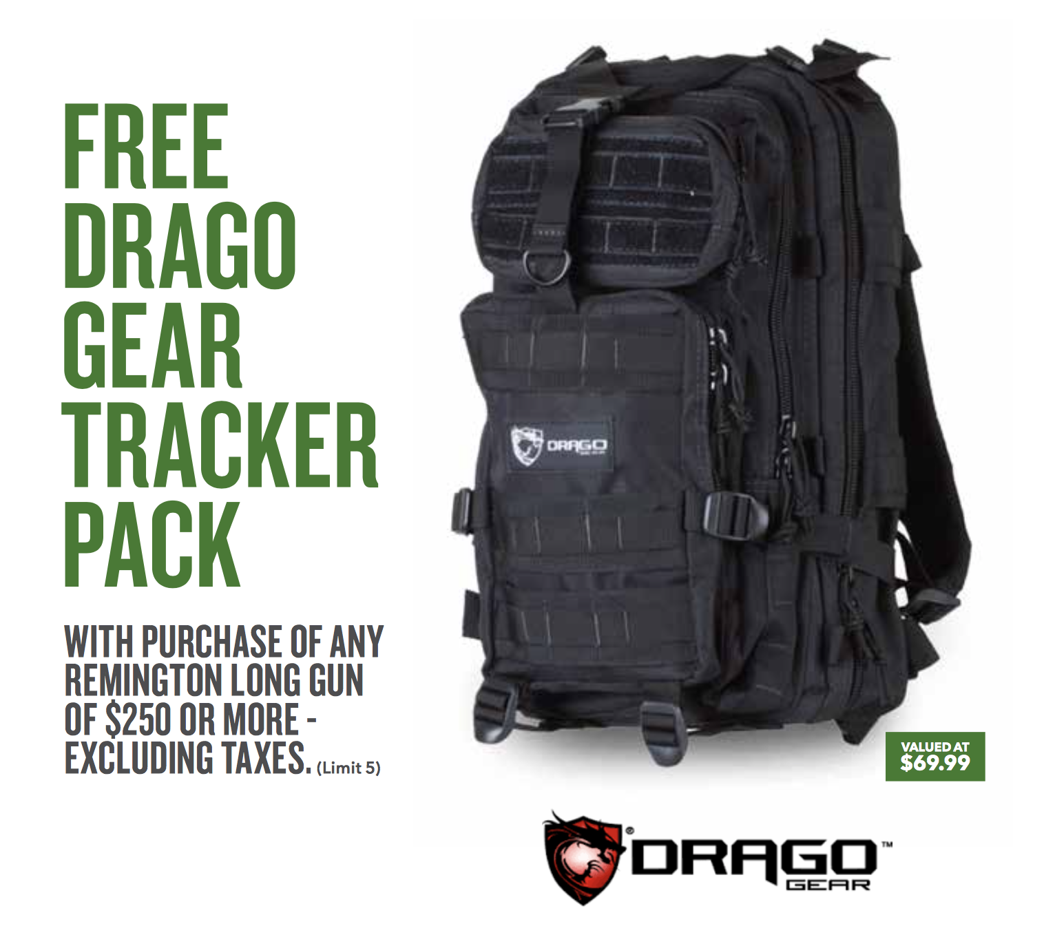 Remington Free Drago Bag