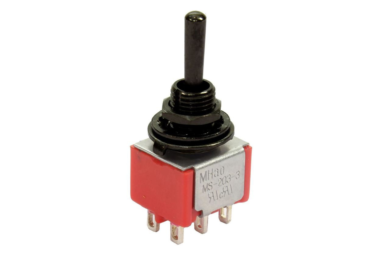 mini toggle switch 3 way on on on round black philadelphia luthier tools supplies llc. Black Bedroom Furniture Sets. Home Design Ideas