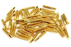 Mini Humbucker Pole Screw - Gold - Qty 60