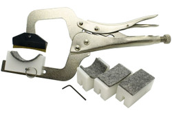 Hand Held Fret Press with 4 neck suppprt cauls