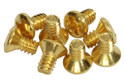 "#6 - 32 x 1/4"" pickup switch mounting screws - Gold"