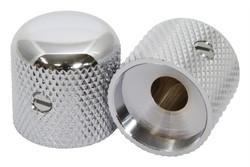 "Chrome metal knobs for 1/4"" pot shaft"