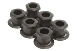 "Kluson hex head conversion bushings for 1/4"" sting posts - Black"