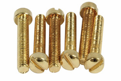 Vintage PAF Pole screws 1010 steel - Gold