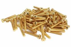 Vintage PAF Pole screws 1010 steel - Gold - Qty 60