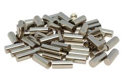 Humbucker Nickel Plated 1215 Steel Pole Slugs w/ Non-Chamfered Ends Qty 60