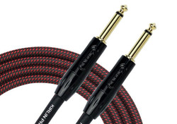 Kirlin IWB-201 BFG Woven Guitar Cable Straight - Black/Red