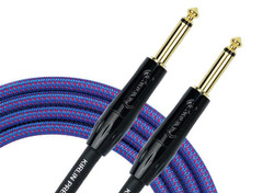 Kirlin IWB-201 BFG Woven Guitar Cable Straight - Royal Blue