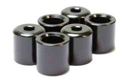 Recessed rear mounted guitar string ferrules in Black Set of 6