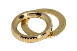 Switchcraft toggle switch nut - Gold