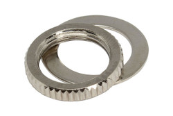Switchcraft toggle switch nut - Nickel
