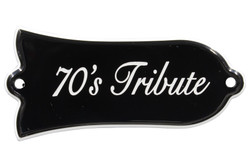 "Engraved ""70's Tribute"" Truss Rod Cover for Gibson gui+M2:N34tars"