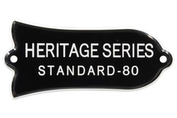 "Engraved ""HERITAGE SERIES STANDARD - 80"" Truss Rod Cover for Gibson Guitars"