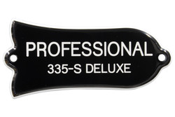 "Engraved ""PROFESSIONAL 335-S DELUXE"" Truss Rod Cover for Gibson Guitars"