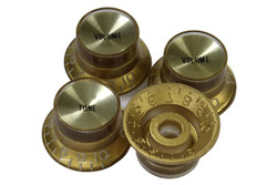 Gold reflector knobs with spun gold reflectors - Fine spline