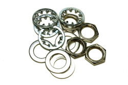 Guitar nuts, washers and lock washers for US CTS Pots & Switchcraft Jacks