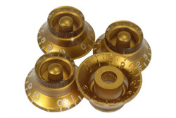 Gold vintage style bell hat knobs - US Fine spline