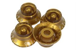 Gold vintage style bell hat knobs - US Fine spline