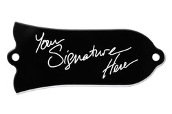 Engraved truss rod cover with your signature for Gibson guitars.