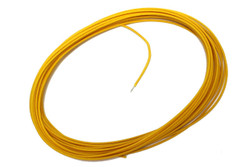 Vintage Yellow push-back wire 25 feet