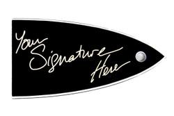 Signature truss rod cover for ESP/LTD guitars