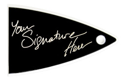 Signature truss rod cover for Carvin guitars - old style