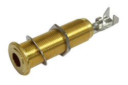 Switchcraft Mono/Stereo Long Threaded Input Jack - Gold