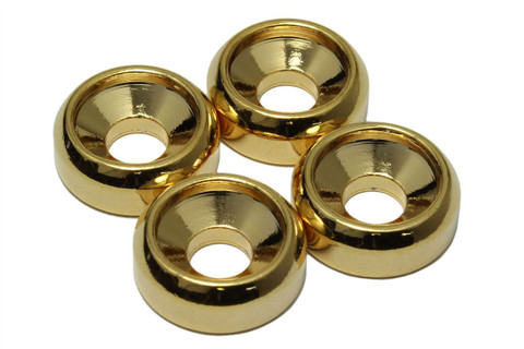 Guitar Neck Mounting Ferrules - Gold