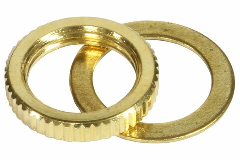 Metric M12 toggle switch nut - Gold