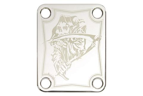Laser etched neck plate - Grim Reaper 01