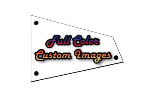 Custom Personalized Truss Rod Cover w/ your picture or logo for Ibanez RG Barless guitars