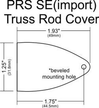 truss rod cover for import prs se model guitars philadelphia luthier tools supplies llc. Black Bedroom Furniture Sets. Home Design Ideas