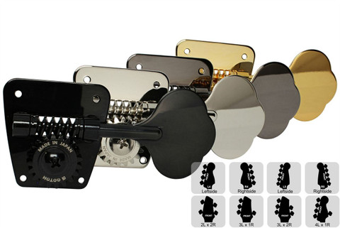 GOTOH FB30 Bass Tuning Machines Tuners - Preconfigured Sets