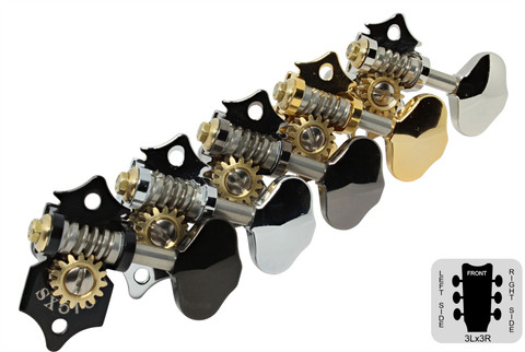GOTOH SXN510 Open Back 3 x 3 Guitar Tuning Machines - Set