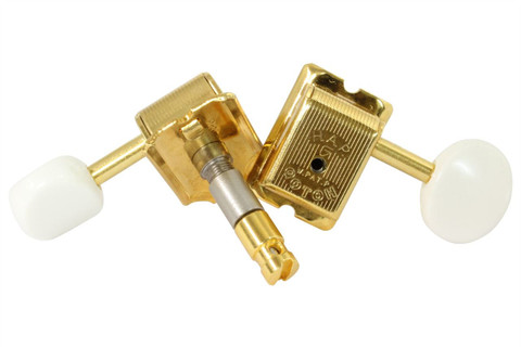 GOTOH SD91-H.A.P.M height adjustable locking guitar tuning machine.  Gold finish with white knobs.