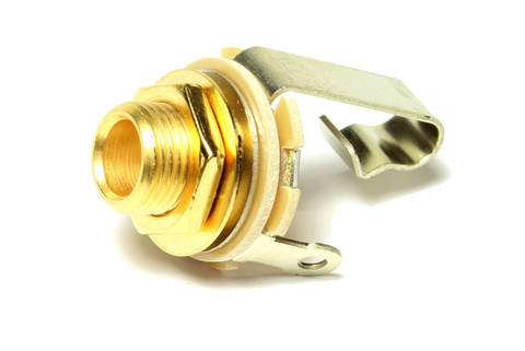 """Switchcraft 1/4"""" guitar output jack - gold plated."""