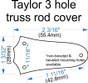 """Custom Engraved """"Signature"""" Truss Rod Cover fits most 3 hole Taylor guitars"""