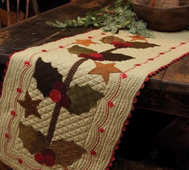 Holly Table Runner by Gloria Parsons