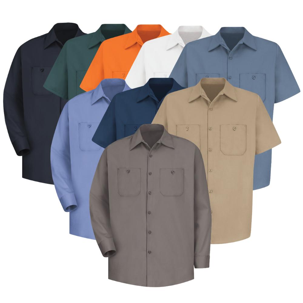100 cotton men 39 s shirts red kap free shipping for Red kap 100 cotton work shirt